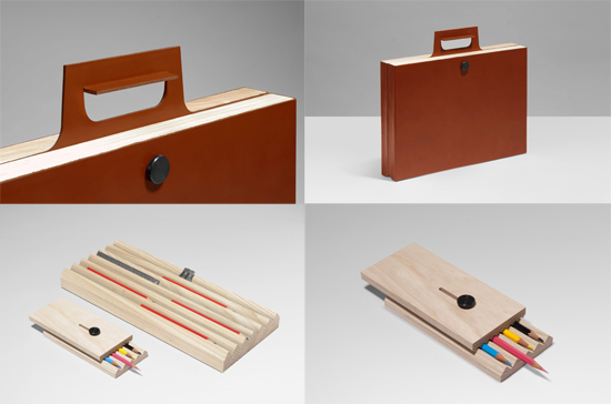 Should we ever see this briefcase/desk set in real life it is likely we  would faint. Thanks Tomas Kral, it's amazing.