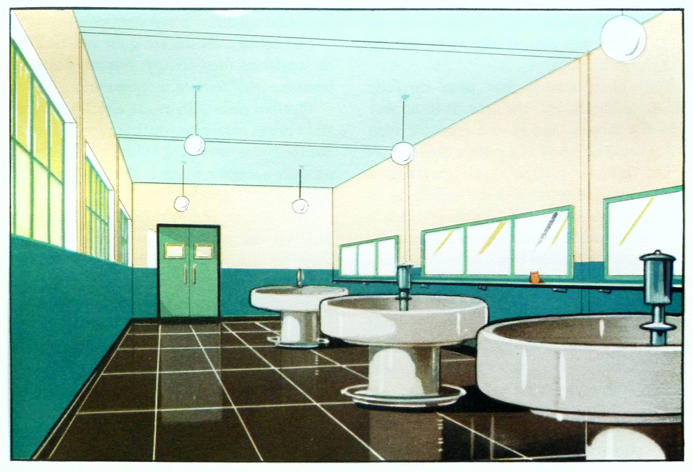 Scans from the function of colour in factories schools for Architecture 1930