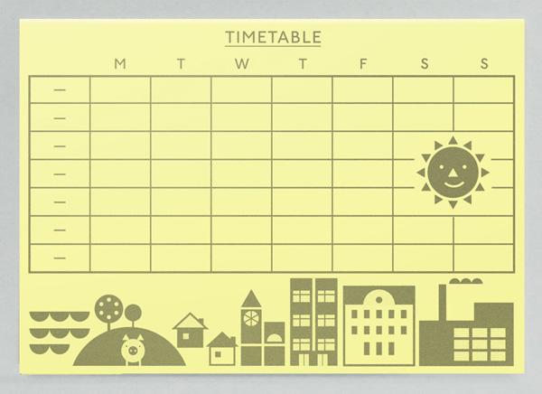 Timetable. | Present&Correct