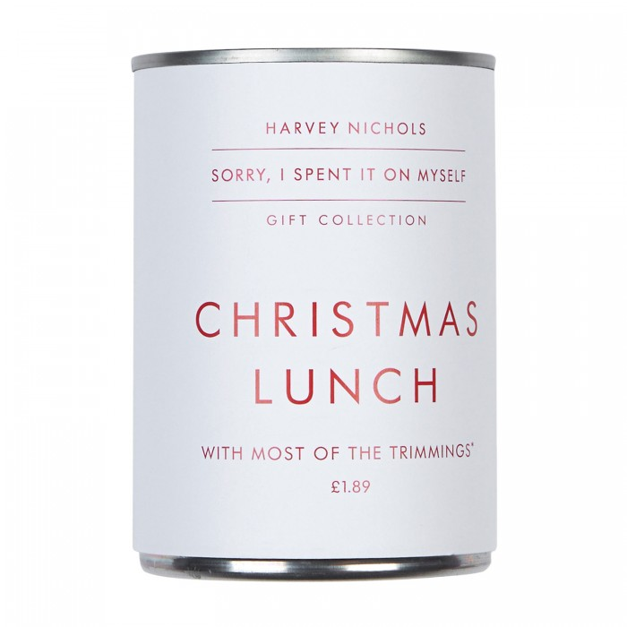 Christmas Dinner In A Tin.Christmas Lunch In A Tin Present Correct