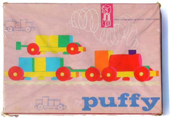 1964 Puffy deksel schoon