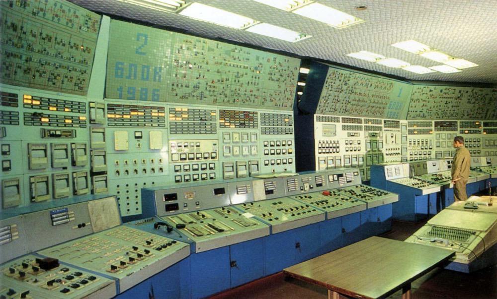 5 Блочный щит управления Хабаровской ТЭЦ-3 (Хабаровск, 1995 г.)