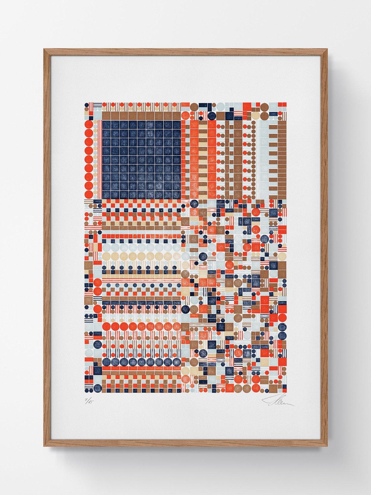 frame-1500x2000-stellavie-letterpress-print-lego-glitch-A5c2_7eed1fa9-f60c-4c7c-ba39-15a73bb0fbf7_2480x1640